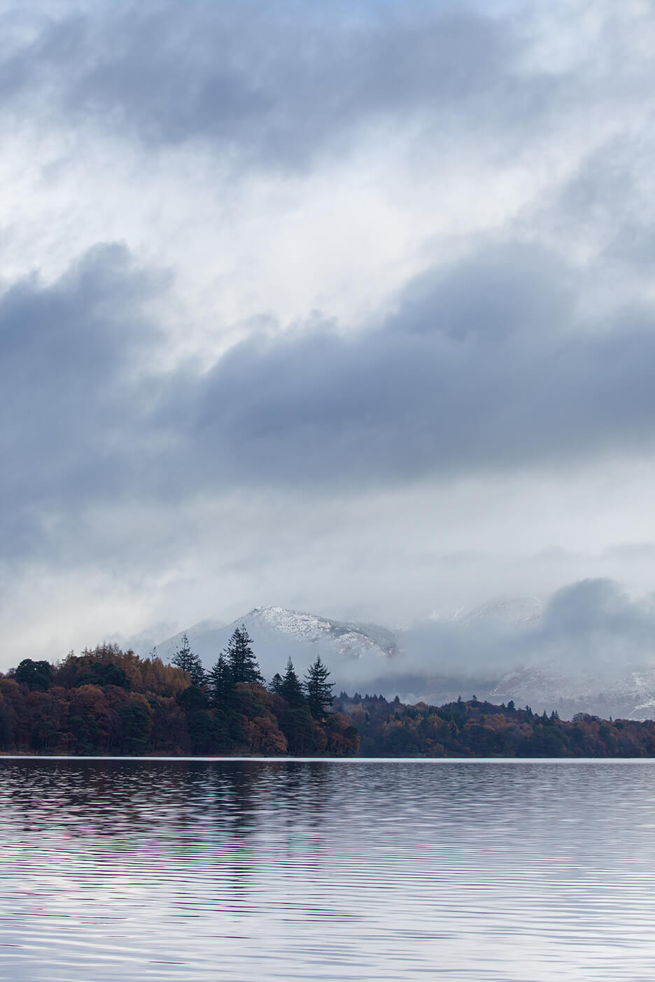 Snow Clouds - Derwent Water